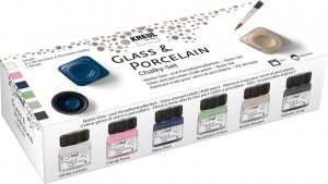 KREUL GLASS & PORCELAIN CHALKY SET 6 X 20 ML