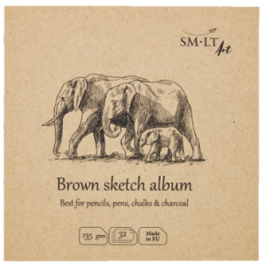 SMLTArt Authentic Brown szkicownik kwadrat 14x14 32ark 135gsm FB-32(135)/NTB