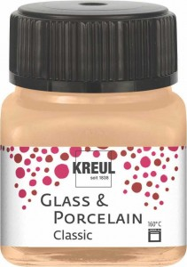 KREUL GLASS & PORCELAIN CLASSIC METALLIC-CHAMPAGNE 20ML 16249