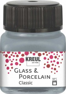 KREUL GLASS & PORCELAIN CLASSIC METALLIC-SILVER 20ML 16246