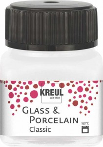KREUL GLASS & PORCELAIN CLASSIC METALLIC-MOTHER-OF-PEARL-WHITE 20ML 16238