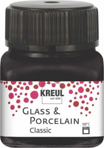 KREUL GLASS & PORCELAIN CLASSIC BLACK 20ML 16234