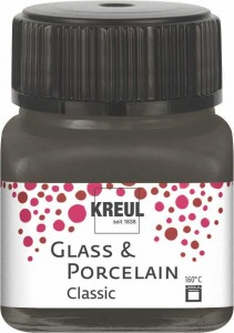 KREUL GLASS & PORCELAIN CLASSIC DARK BROWN 20ML 16226