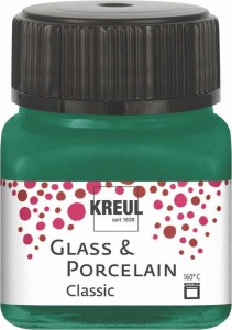 KREUL GLASS & PORCELAIN CLASSIC DARK GREEN 20ML 16225