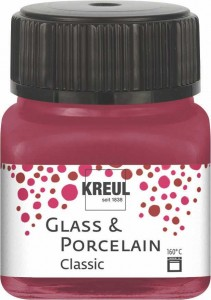 KREUL GLASS & PORCELAIN CLASSIC GRANAT RED 20ML 16207