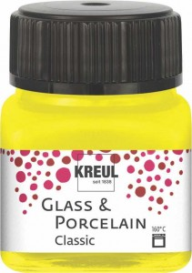 KREUL GLASS & PORCELAIN CLASSIC CANARY YELLOW 20ML 16201