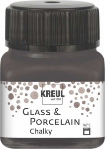 KREUL GLASS & PORCELAIN CHALKY VOLCANIC GRAY 20 ML 16644