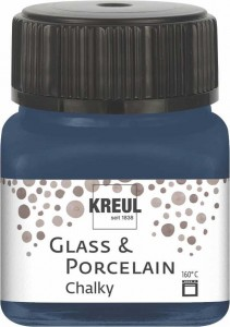 KREUL GLASS & PORCELAIN CHALKY NAVY BLUE 20 ML 16637