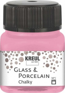 KREUL GLASS & PORCELAIN CHALKY CANDY ROSE 20 ML 16635