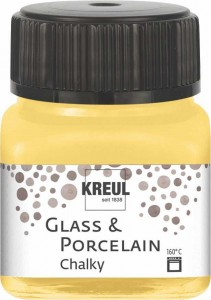 KREUL GLASS & PORCELAIN CHALKY YELLOW SAFRAN 20 ML 16632