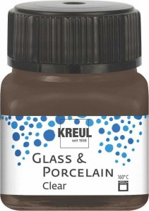 KREUL GLASS & PORCELAIN CLEAR ESPRESSO BROWN 20 ML 16298