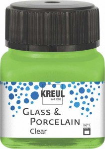KREUL GLASS & PORCELAIN CLEAR APPLE GREEN 20 ML 16297