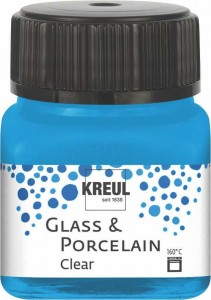 KREUL GLASS & PORCELAIN CLEAR WATER BLUE 20 ML 16296