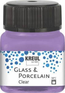 KREUL GLASS & PORCELAIN CLEAR LILAC 20 ML 16295