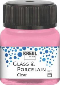 KREUL GLASS & PORCELAIN CLEAR ROSE 20 ML 16294