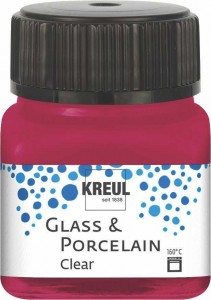 KREUL GLASS & PORCELAIN CLEAR WINE RED 20 ML 16293