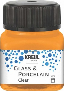 KREUL GLASS & PORCELAIN CLEAR ORANGE 20 ML 16292