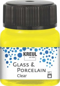 KREUL GLASS & PORCELAIN CLEAR YELLOW 20 ML 16291