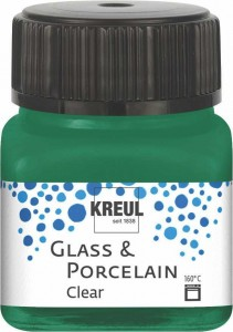 KREUL GLASS & PORCELAIN CLEAR DARK GREEN 20 ML 16224