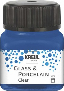 KREUL GLASS & PORCELAIN CLEAR DARK BLUE 20ML 16217