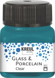 KREUL GLASS & PORCELAIN CLEAR TURQUOISE 20ML 16216
