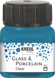 KREUL GLASS & PORCELAIN CLEAR CYANEAN BLUE 20ML 16215