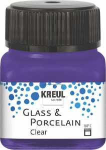 KREUL GLASS & PORCELAIN CLEAR VIOLET 20ML 16211