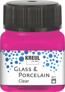 KREUL GLASS & PORCELAIN CLEAR PINK 20ML 16210