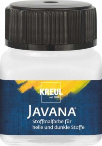 KREUL JAVANA FABRIC PAINT FOR LIGHT AND DARK-COLORED TEXTILES WHITE 20 ML