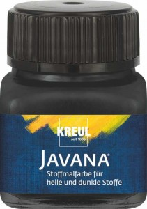 KREUL JAVANA FABRIC PAINT FOR LIGHT AND DARK-COLORED TEXTILES BLACK 20 ML