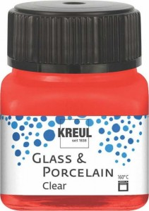 KREUL GLASS & PORCELAIN CLEAR CHERRY RED 20ML 16205
