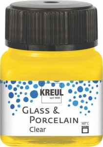 KREUL GLASS & PORCELAIN CLEAR SUN YELLOW 20ML 16202