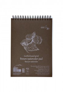 SMLTArt Authentic Watercolor Brown blok A5 na spirali 280g 20ark 5AB-20TS/B