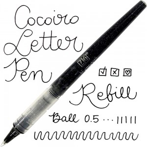 ZIG LETTER PEN COCOIRO REFILL BALL 0,5 BLACK LP-RB5-010S