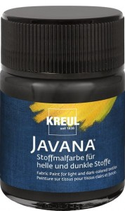 KREUL Javana Fabric Paint for light and dark-colored textiles Black 50 ml