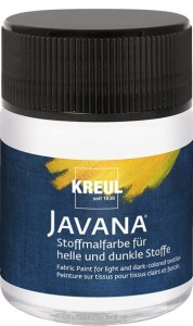 KREUL Javana Fabric Paint for light and dark-colored textiles White 50 ml