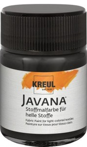 KREUL Javana Fabric Paint for light-colored textiles Black 50 ml