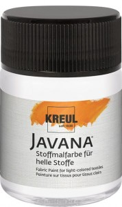 KREUL Javana Fabric Paint for light-colored textiles White 50 ml