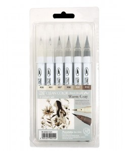 KURETAKE ZIG Clean Color Real Brush set WARM GRAY RB-6000AT/6VC