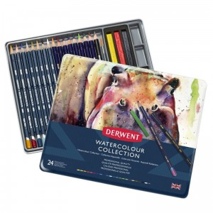 Derwent Zestaw Watercolour Collection 24 - Kredki Watercolour oraz Inktense 0700304