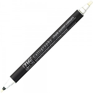 Kuretake Calligraphy Chalk Pastel Colours 000 WHITE MS-6400/000
